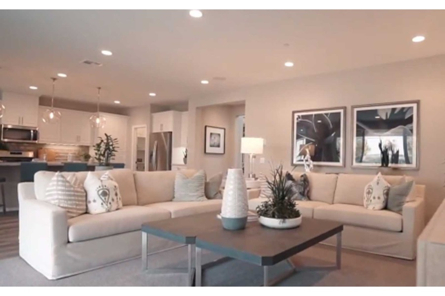 Living room with ample seating at Agave residence three at Spencer