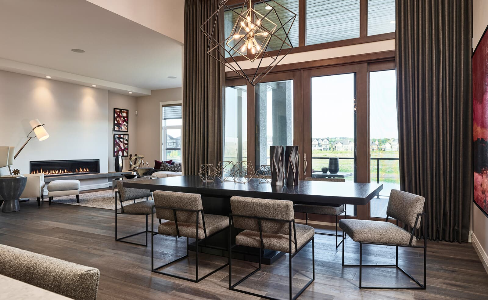 the dining area in the carmini 2 home in cranstons riverstone