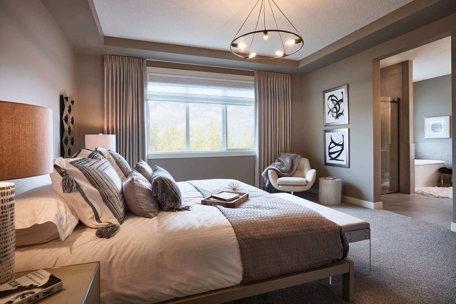 the master bedroom in the lavello 2 in cranstons riverstone