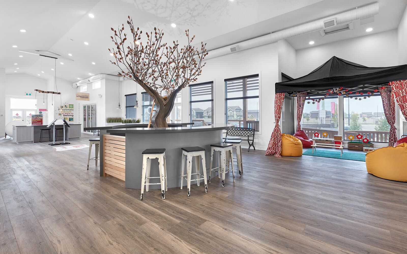 The award-winning Orchards Sales Center by Brookfield Residential in Edmonton, Alberta.