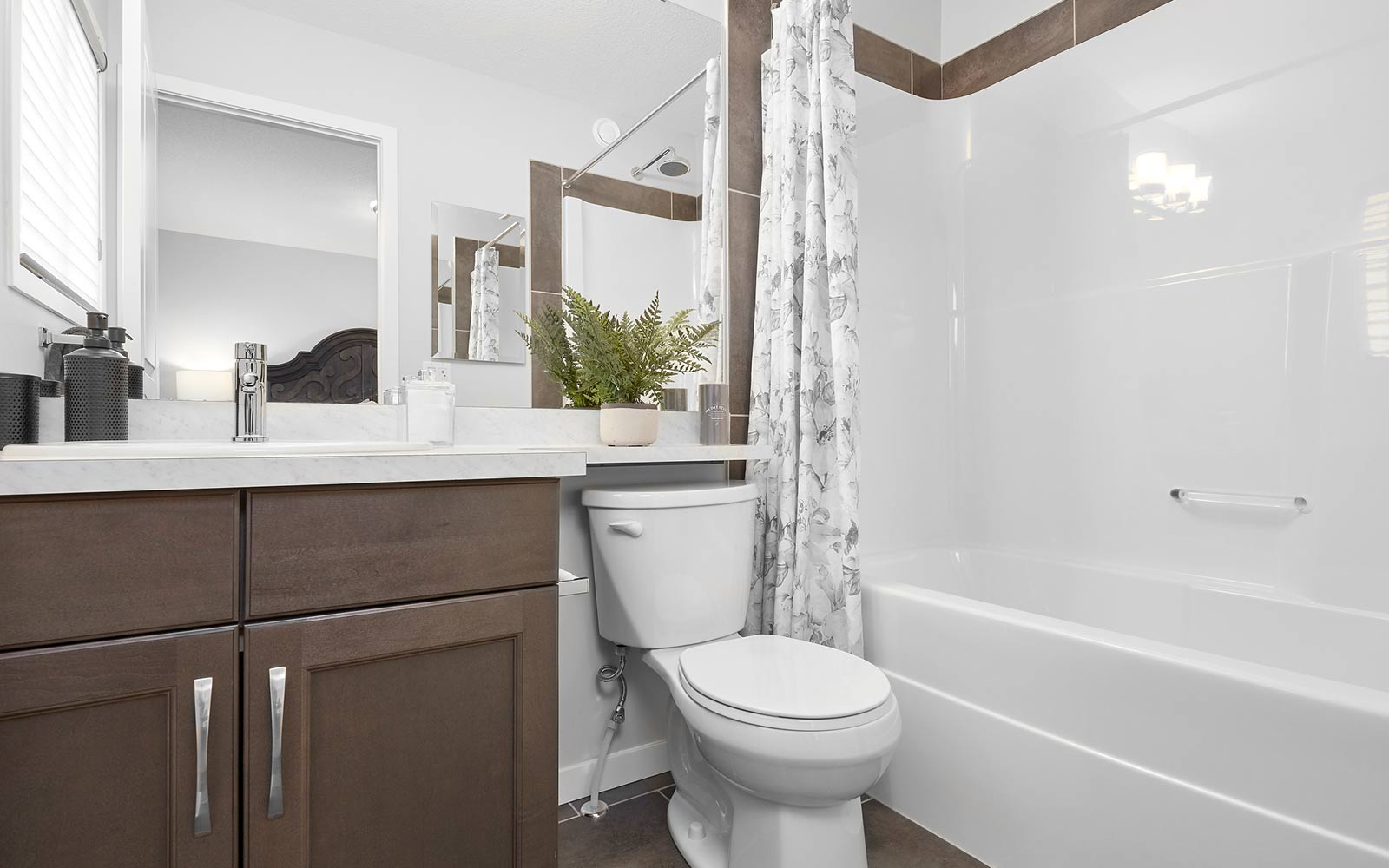 Ensuite in the Mcleod model by Brookfield Residential in Edmonton.