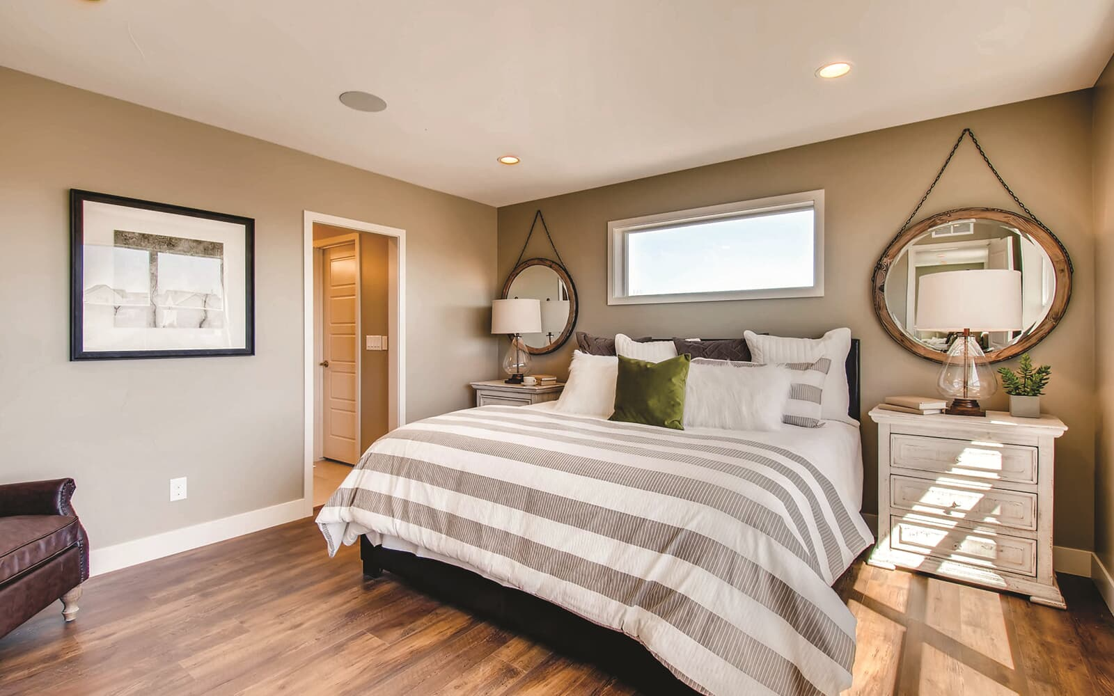 Avenue Five Model Interior Master Bedroom Brighton Crossings Denver Colorado