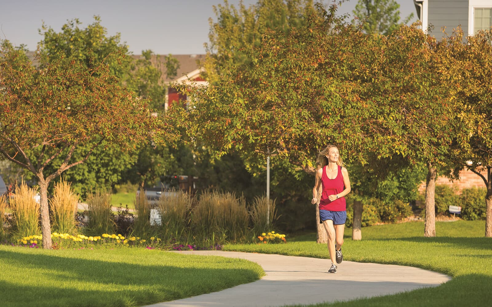 Lifestyle-Woman-Running-Brighton-Crossings-Denver-Colorado