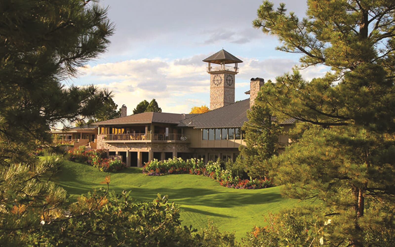 Clubhouse at the private luxury community of The Village Castle Pines in Castle Rock, CO
