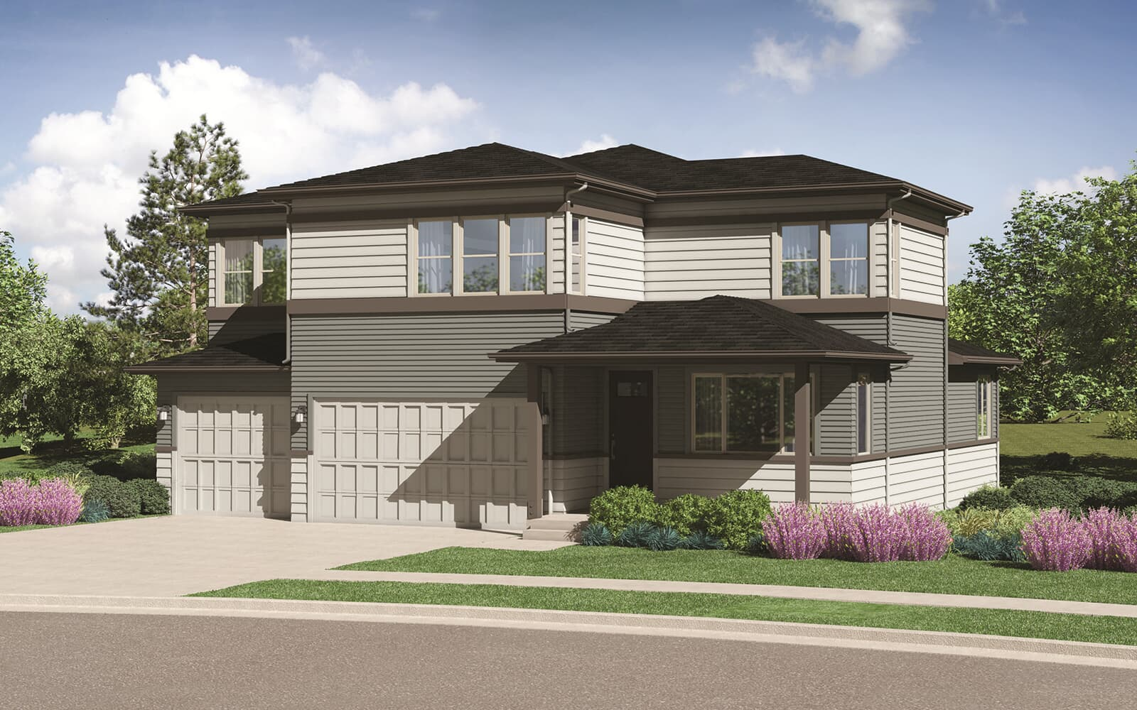 Harvest Five Contemporary Elevation Barefoot Lakes Denver Colorado