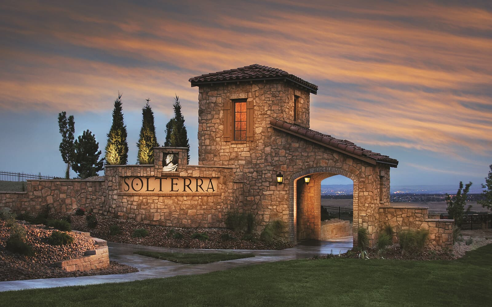 Lifestyle-Photo-Community-Retreat-Entry-Signage-Solterra-Denver-Colorado