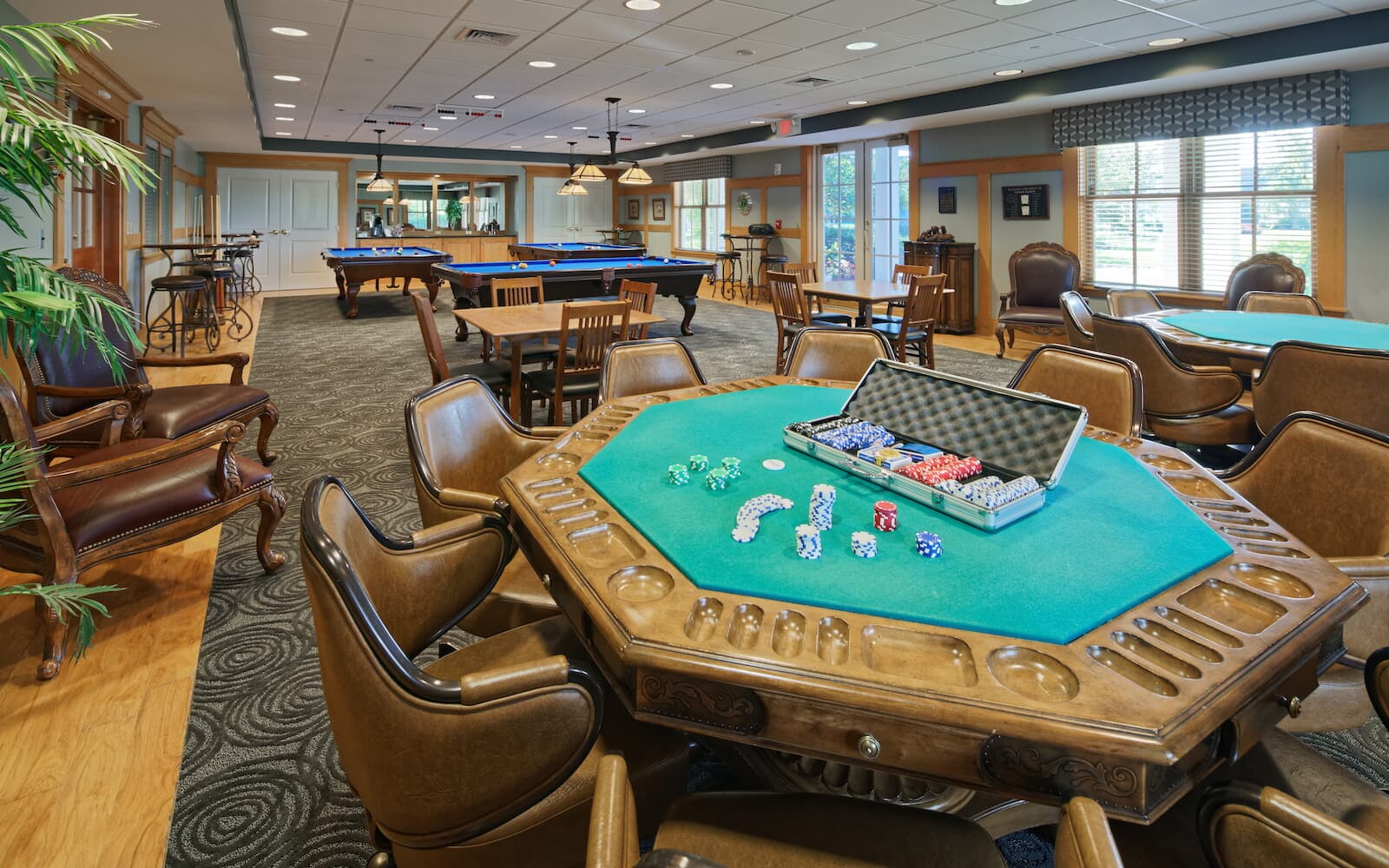 The card room in the clubhouse at Heritage Shores in Bridgeville DE