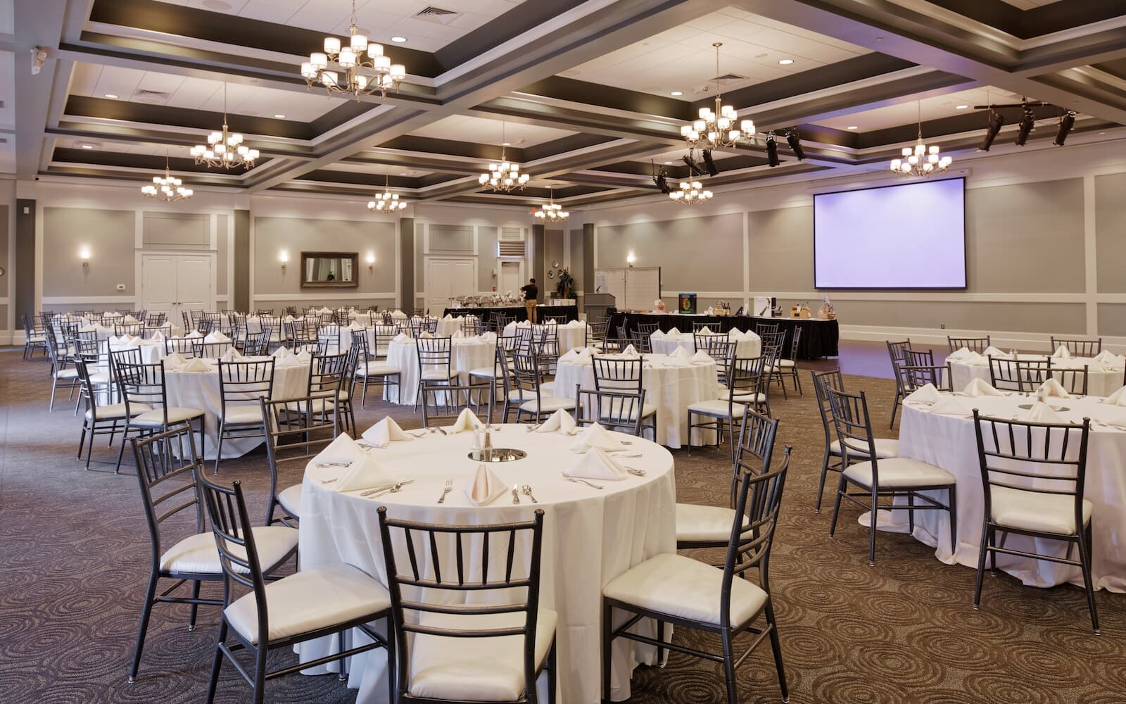 An event room at the clubhouse at Heritage Shores in Bridgeville DE