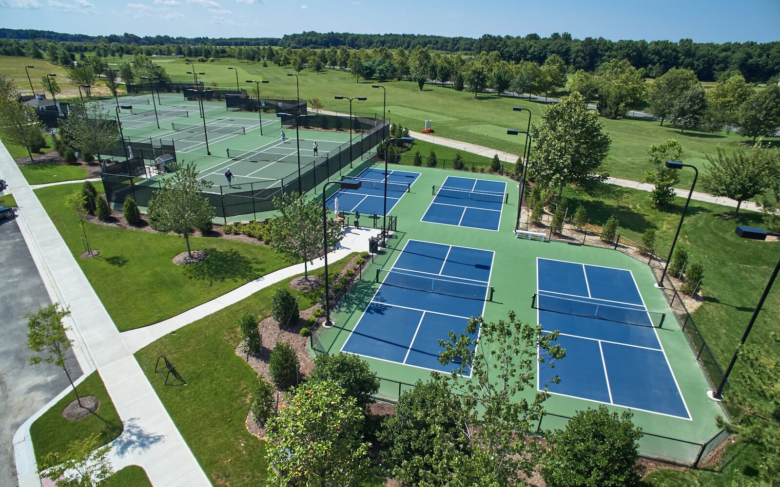 Tennis and Pickleball Courts at Heritage Shores in Bridgeville, DE.