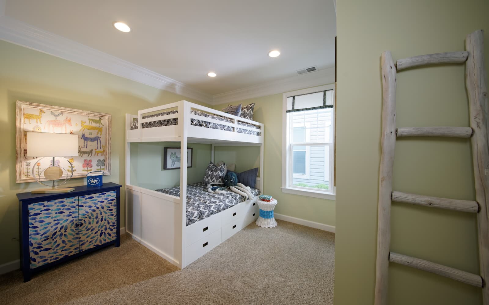 A secondary bedroom at the Picasso home in Heritage Shores Bridgeville DE