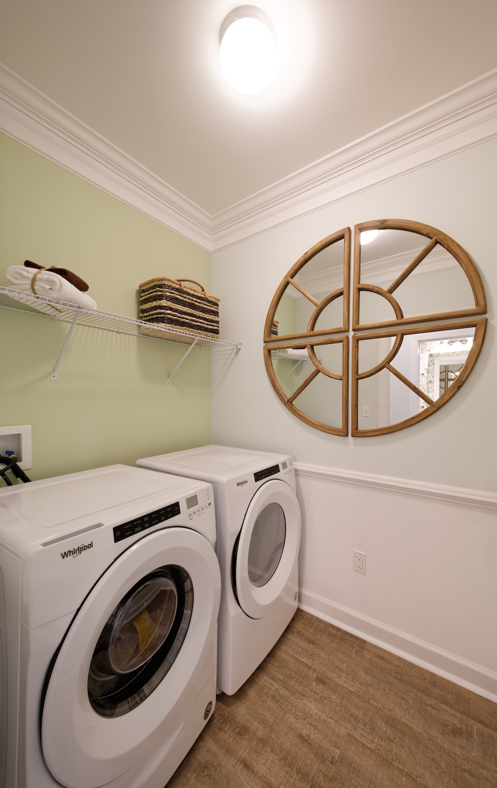 The laundry room in the Picasso at Heritage Shores Bridgeville DE