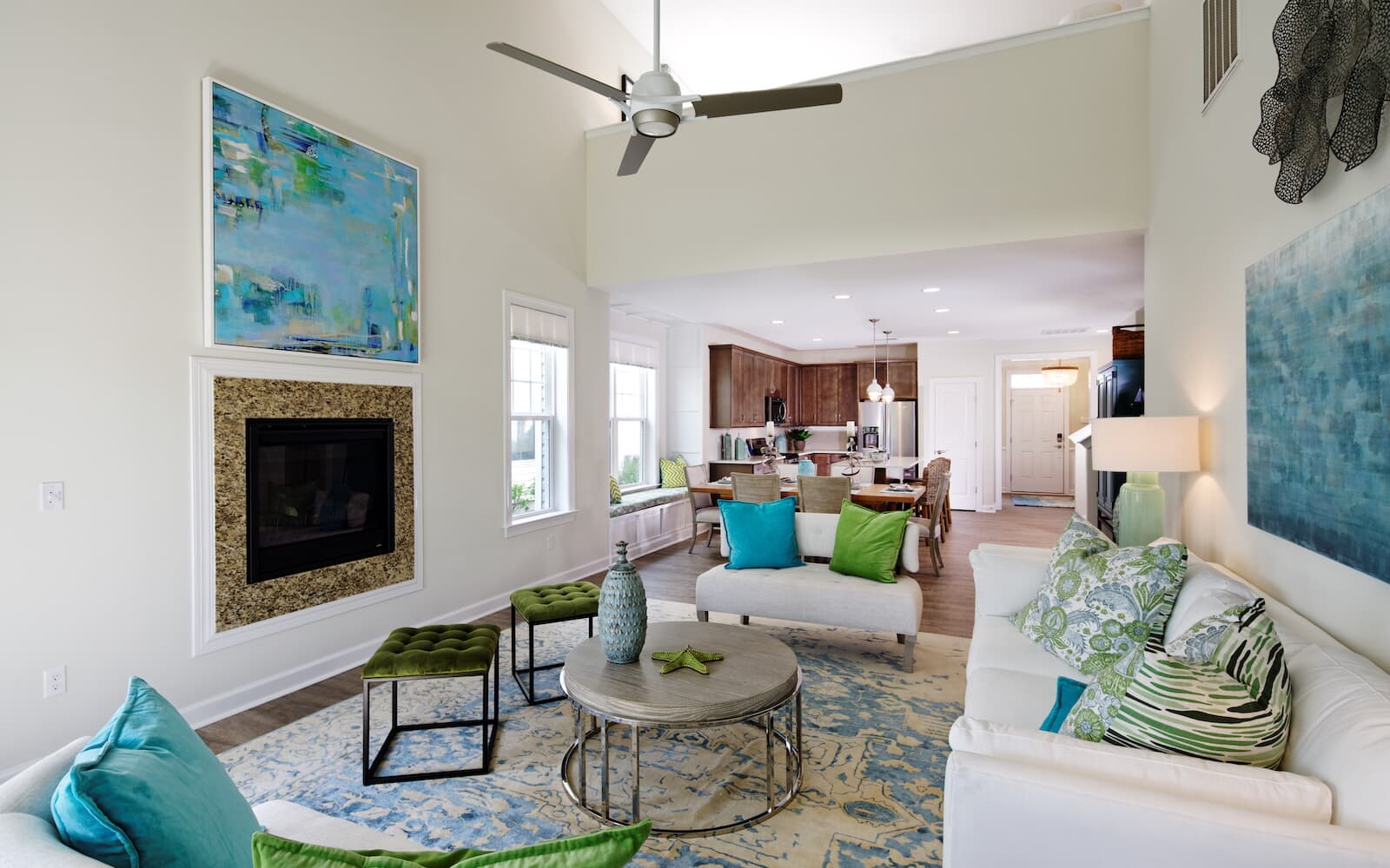 The living room of the Picasso at Heritage Shores in Bridgeville DE