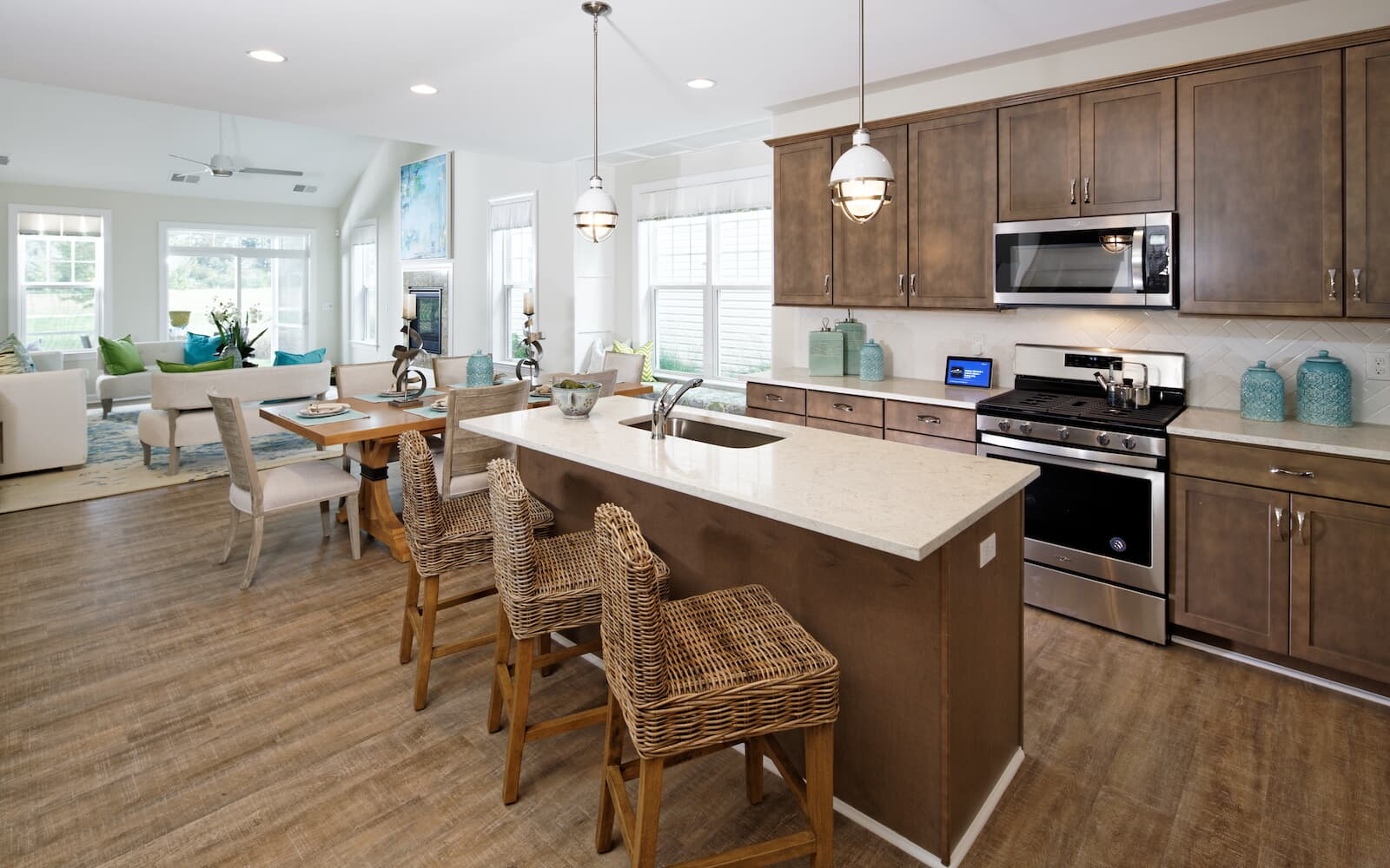 The kitchen of the Picasso at Heritage Shores in Bridgeville DE