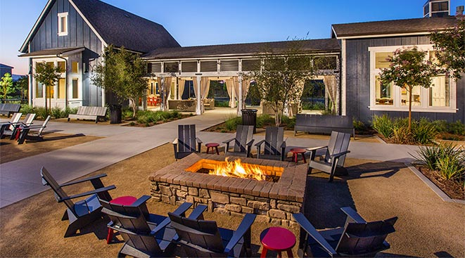 Firepits at The Ranch House | Audie Murphy Ranch in Menifee, CA | Brookfield Residential
