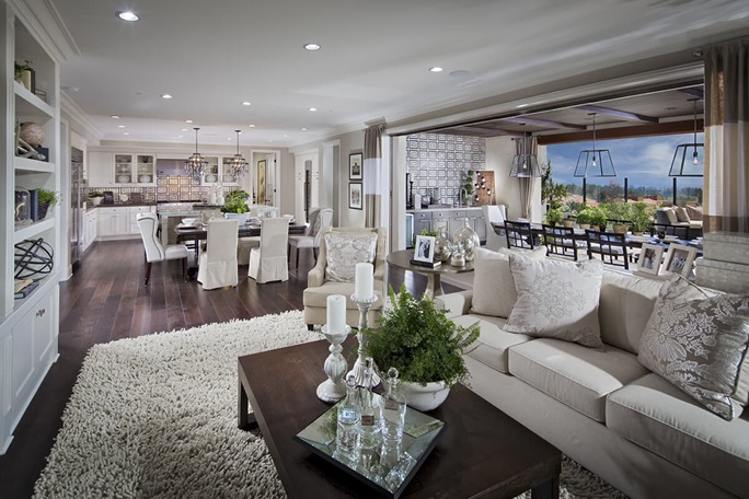 Luxury living room | Brookfield Residential