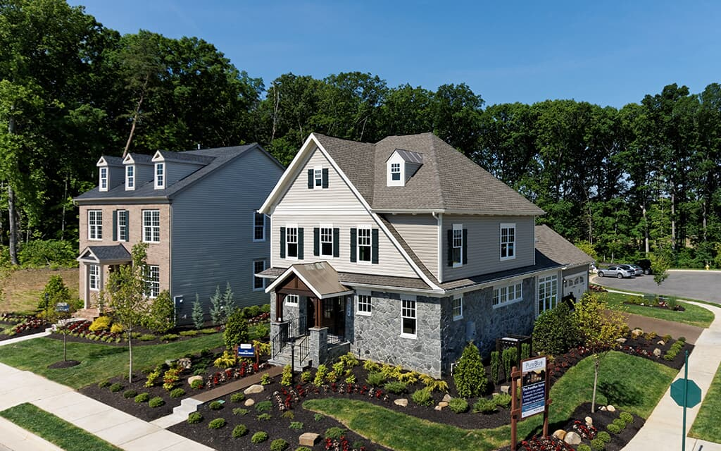 Outdoor daytime view of homes | Brookfield Residential