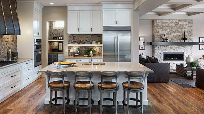 Gourmet kitchen in a luxury home Brookfield Residential