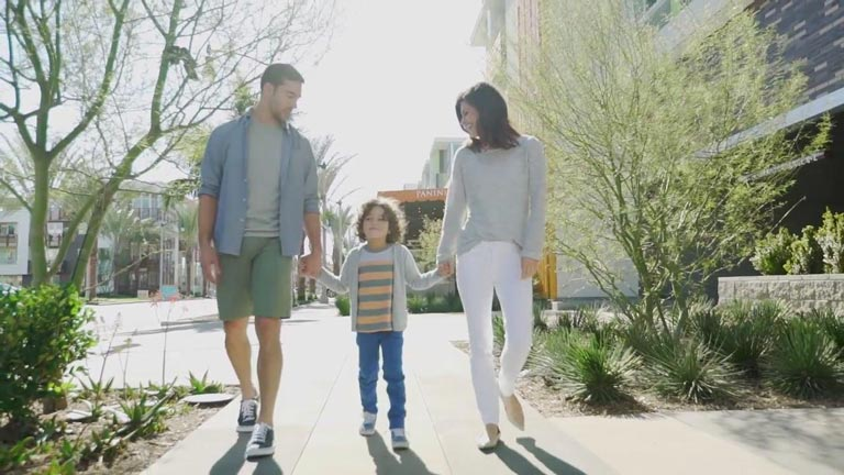 Family Walking | Brookfield Residential