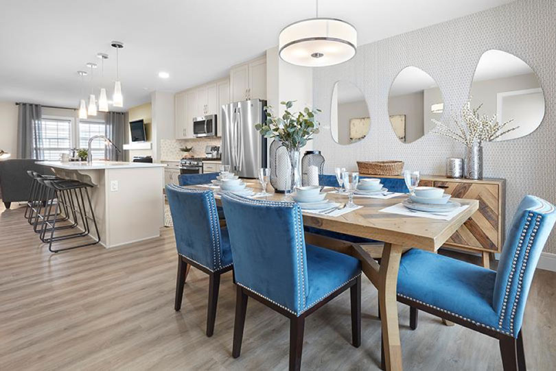 Dining Room of Low Carbon Discovery Home at Chappelle Gardens in Edmonton, AB | Brookfield Residential
