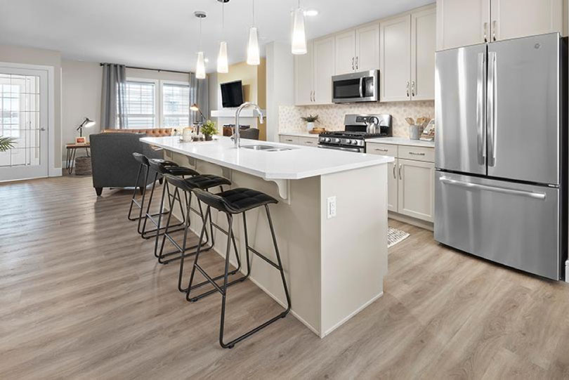 Kitchen of Low Carbon Discovery Home at Chappelle Gardens in Edmonton, AB | Brookfield Residential