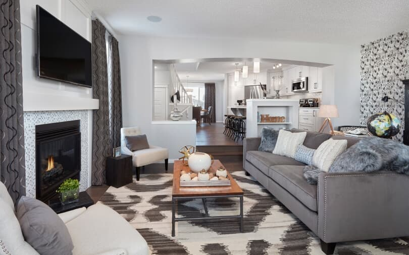 The Octave at Livingston Living Room | Calgary, Alberta | Brookfield Residential