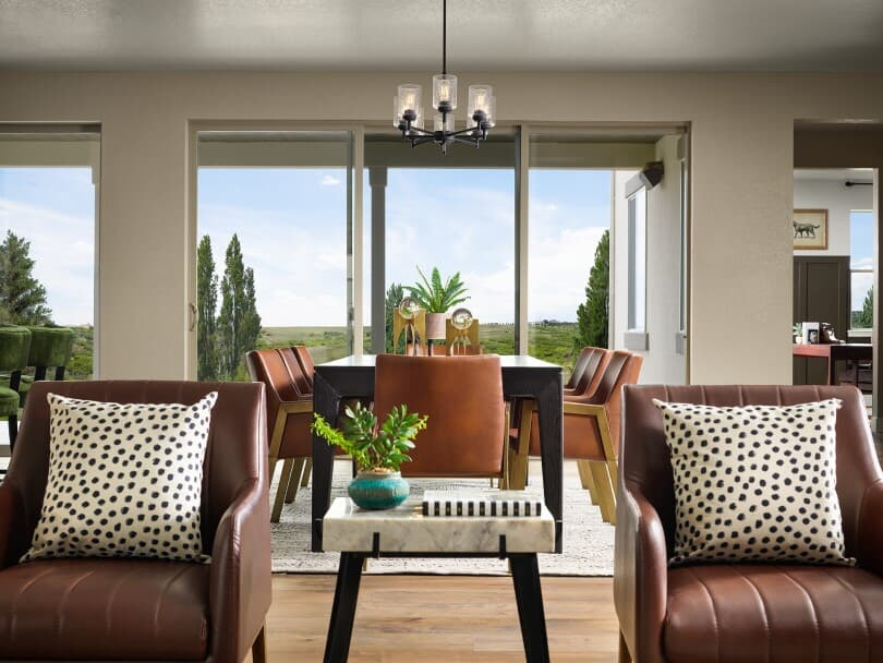 Dining room in Harvest 8 at Barefoot Lakes in Firestone, CO by Brookfield Residential