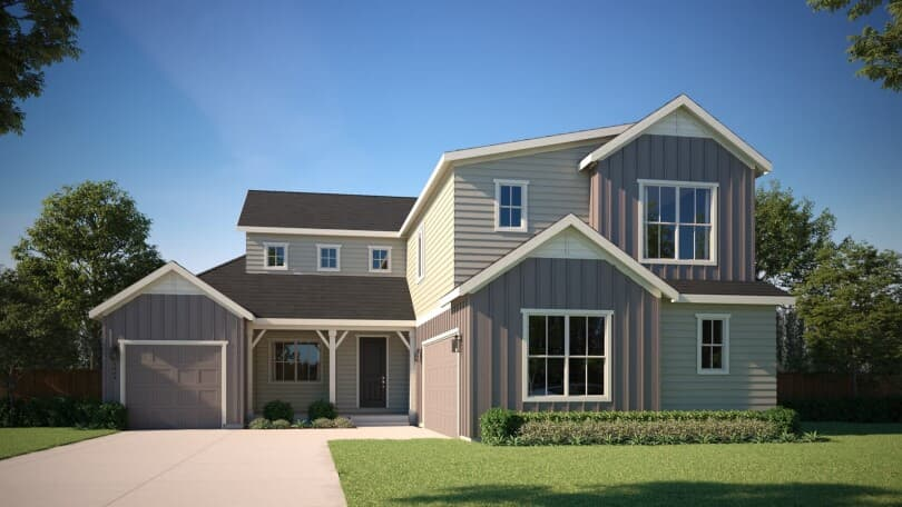 Exterior rendering of Harvest 9 at Barefoot Lakes in Firestone, CO by Brookfield Residential