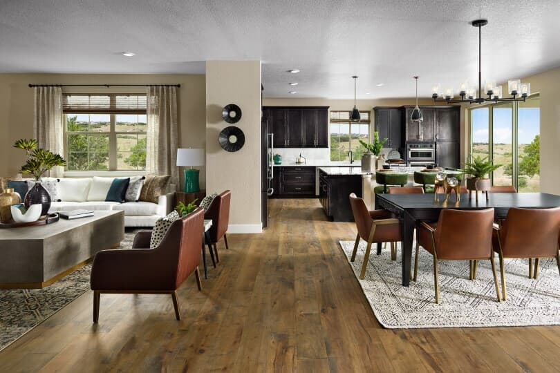 Seamless main level in Harvest 8 at Barefoot Lakes in Firestone, CO by Brookfield Residential