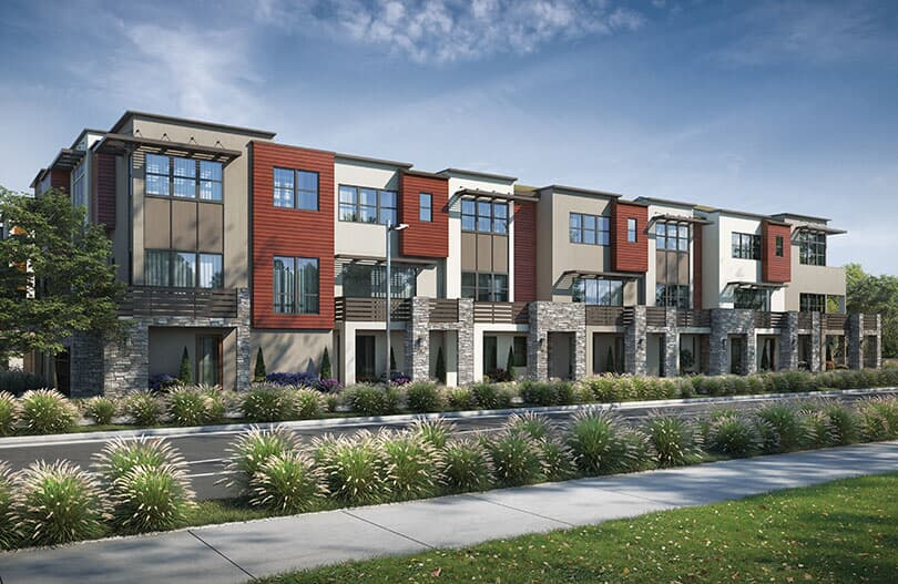 8plex exterior - Fillmore - new homes Dublin, CA - Brookfield Residential
