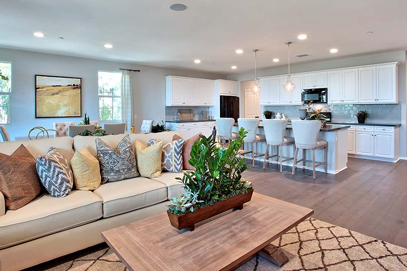 Living Room | Poppy at New Haven in Ontario Ranch, CA | Brookfield Residential
