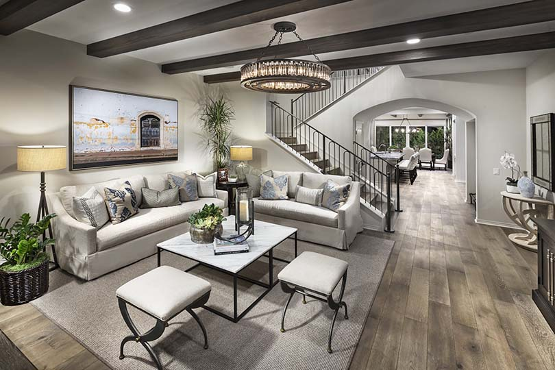 Luxury Living Room | Beverly at Eastwood Village in Irvine, CA | Brookfield Residential