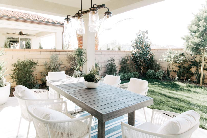 Whether you have a covered patio or a spacious backyard, think of your outdoor living area as an extension of your home.