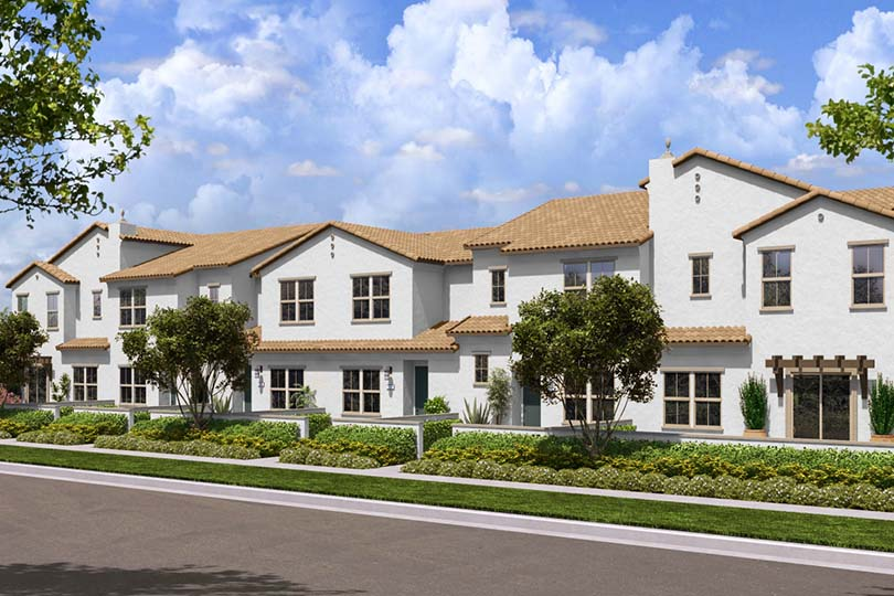 New Townhomes Flora at The Village of Escaya in Chula Vista CA Brookfield Residential