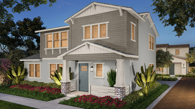 Exterior rendering of a Los Angeles County home | Brookfield Residential