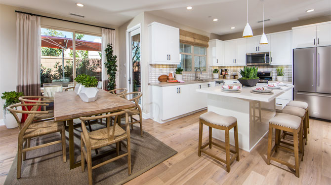 Kitchen in an Orange County home | Brookfield Residential