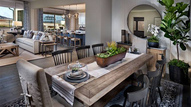 Dining in a Riverside County home | Brookfield Residential