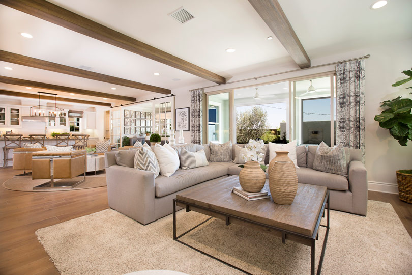 Living Room in a San Diego County home | Brookfield Residential