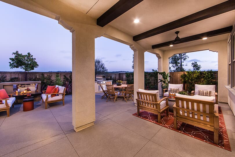Backyard Living Haciendas at The Village of Escaya in Chula Vista CA Brookfield Residential