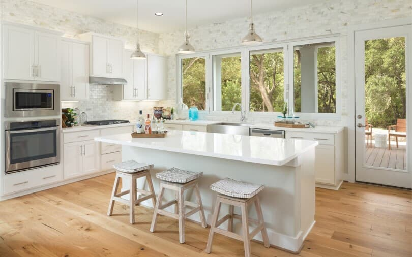 Bright & Stylish Kitchen at Retreat at Dripping Springs in Austin, Texas