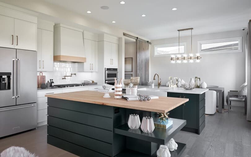 Spacious Chef's Kitchen at Cranston's Riverstone in Calgary