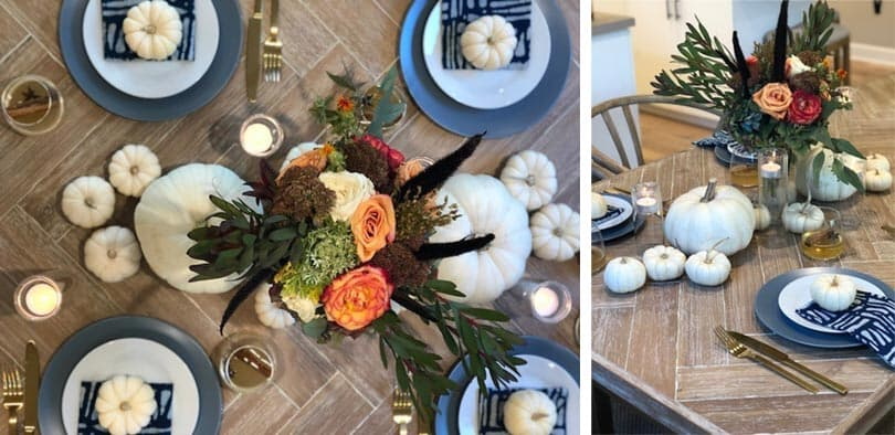 Stylish Thanksgiving table setting in a Southern California new home | Brookfield Residential
