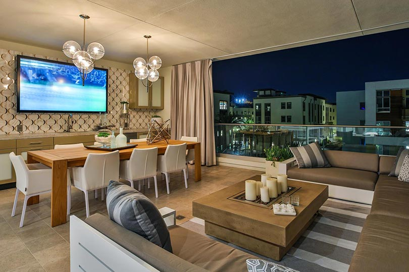 Covered deck | Jewel at Playa Vista in Los Angeles, CA | Brookfield Residential