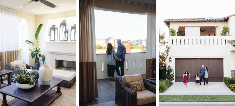 Family in Residence 2 | Beverly at Eastwood Village in Irvine, CA | Brookfield Residential