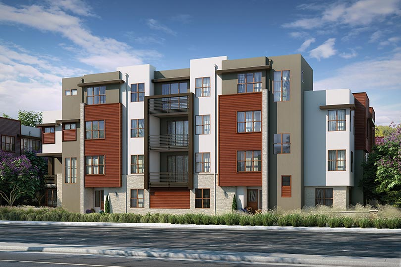 Exterior Color 1 | Wilshire at Boulevard in Dublin, CA | Brookfield Residential