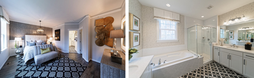Torrington Owner's Bedroom and Bathroom | Potomac Shores in Potomac Shores, Virginia | Brookfield Residential