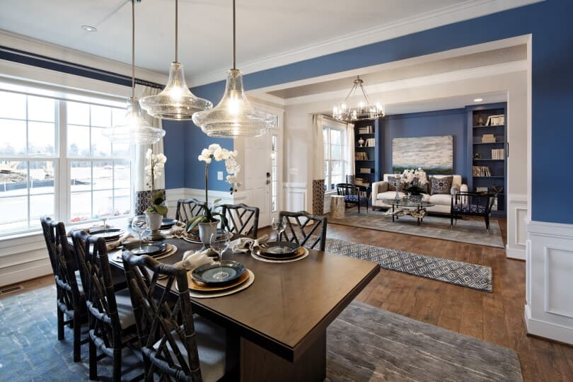 Interior view of the dining room in the Kensington plan in the Avendale community  in Bristow VA from Brookfield Residential