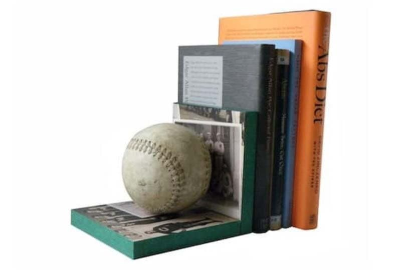 DIY baseball bookends photo via Mod Podge Rocks