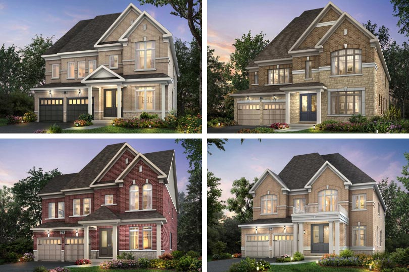 Clockwise from top left, Pathways home designs: the Eden, Oakridge, Beckett and Echo.