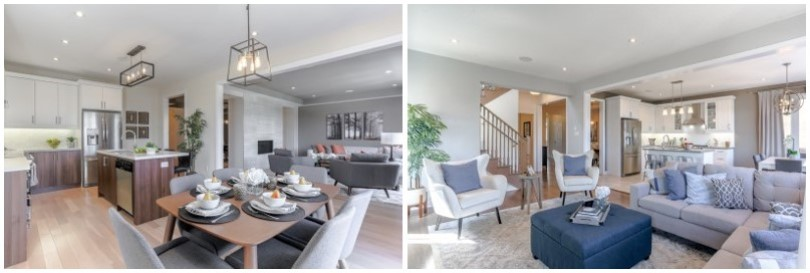 L;great-room R;dining- area-pinehurst-toronto-brookfield-residential-810x273