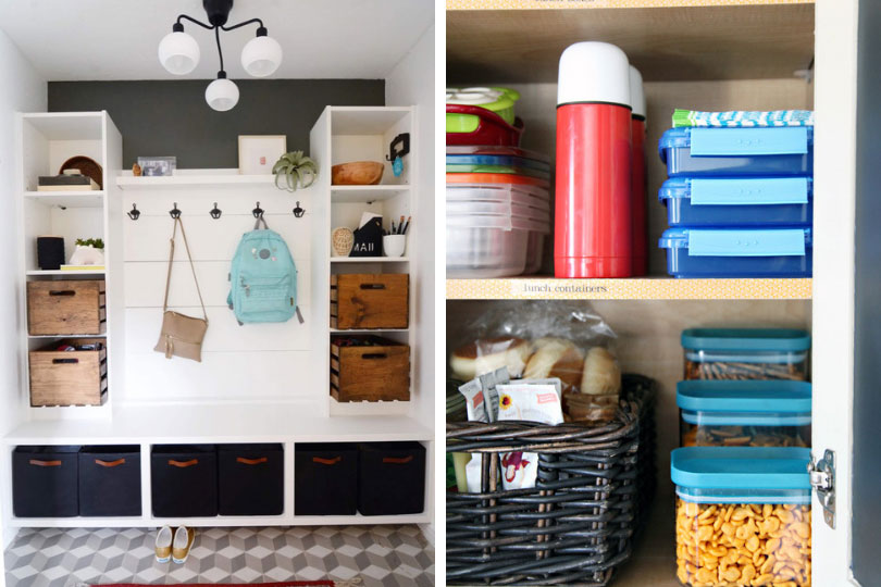 Back to school - home organization mudroom - kitchen cupboards | Brookfield Residential